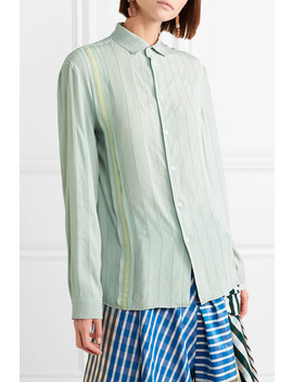 Embroidered Crepe De Chine Shirt by Marni