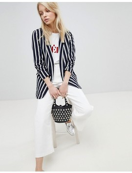 Only Striped Oversized Blazer by Only