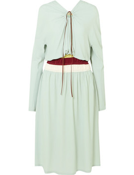 Gathered Crepe Midi Dress by Marni
