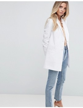 Asos Tailored Linen Longline Relaxed Blazer by Asos Collection