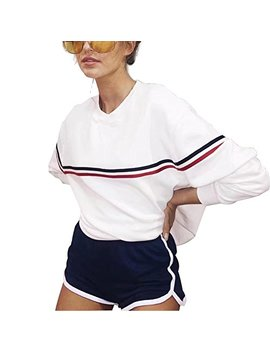 Germinate Fashion Crewneck Sweatshirts Women White Aesthetic Cute Tumblr Pullover Sweater Plus Size by Germinate Fashion