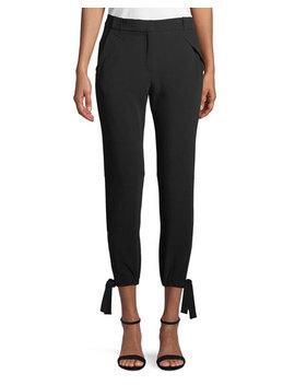 Slim Fit Ankle Tie Pants by Halston Heritage