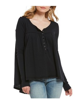 Kai Scoop Neck Henley Tee by Free People