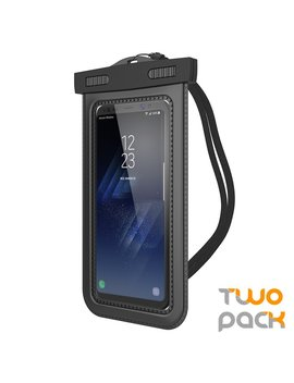 """(2 Pack) Universal Waterproof Case, Trianium [Tethys 8 Series] Cellphone Dry Bag Pouch For I Phone 7 6s 6 Plus, Se 5s 5c 5, Galaxy S8 S7 S6 Edge, Note 5 4,Lg G6 G5,Htc 10,Sony Nokia Up To 6.0"""" Diagonal by Trianium"""