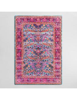 Pink Floral Chloe Area Rug by World Market