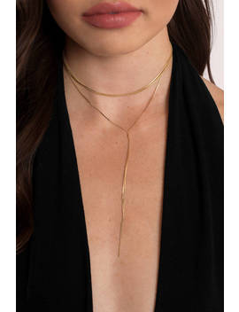 Sweet Nothing Gold Layered Choker by Tobi