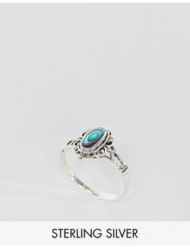 Kingsley Ryan Sterling Silver Abalone Stone Ring by Kingsley Ryan