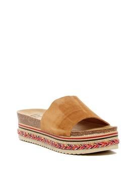 Perk Suede Platform Slide Sandal by Lfl
