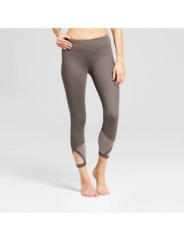 Women's Comfort 7/8 Shine Pieced Leggings   Joy Lab™ Gray by Joy Lab™