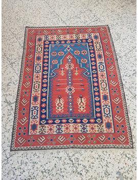 Vintage Anatolian Turkish Kilim Rug : 5' X 7' // 153 X 204cm,Erzurum Kilim Rug,Pastel Color Kilim Rug,Handwoven Kilim Rug,Rugs, Kilim by Etsy
