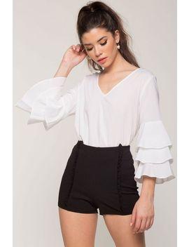 Femme Ruffle Dressy Shorts by A'gaci