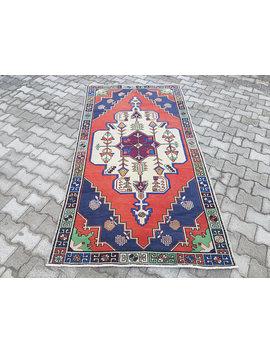 4.4 X 8.3 Ft Vintage Oushak Rug, Vintage Faded Color Oushak Rug, Distressed Turkish Rug, Carpet, Low Pile Worn Oushak Rug, Ushak Carpet by Etsy