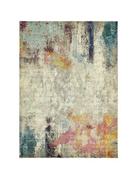 Spectrum Beige/Blue Abstract Area Rug (9' X 12') by Generic