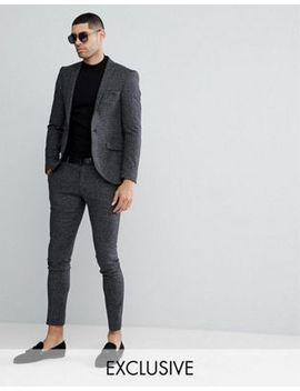 Heart & Dagger Super Skinny Suit In Dogstooth Fleck by Asos Brand