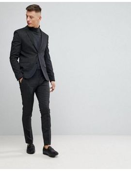 River Island Super Skinny Suit In Dark Gray Check by Asos Brand