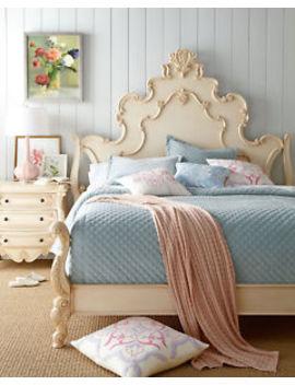 Cream Nicolette King Birch Veneer, Hardwood Bed Horchow Neiman Marcus by Neiman Marcus