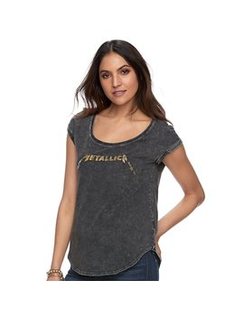 "Women's Rock & Republic® ""Metallica"" Acid Wash Tee by Rock & Republic"