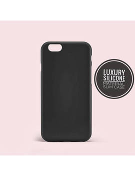 Black Color Rubber Slim Thin Back Case Cover I Phone 6 6s Case I Phone 7 7 Plus Case I Phone X 8 8 Plus Se Case Samsung Galaxy S8 S8 Plus Case by Etsy