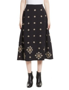 Lottie Embellished Midi Skirt by Elizabeth And James