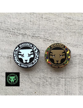 Kingdom Of Wakanda Glow In The Dark Enamel Pin   Black Panther T'challa by Etsy
