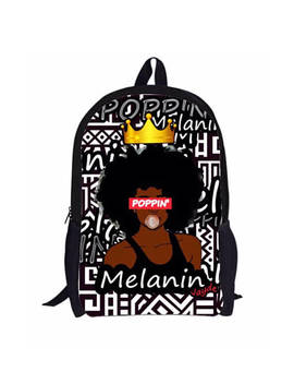 Melanin Poppin' Black Girl Magic Backpack Customized With Name by Etsy
