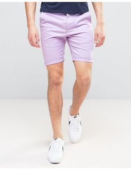 Asos Skinny Chino Shorts In Light Purple by Asos