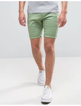Asos Skinny Shorts In Light Green by Asos