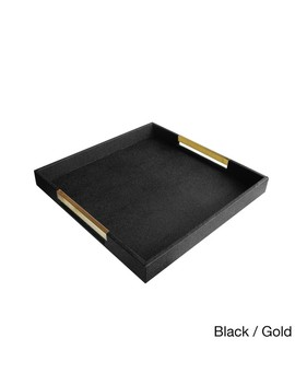 Accents By Jay Square Tray With Handles by Accents By Jay