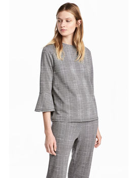 Houndstooth Patterned Top by H&M