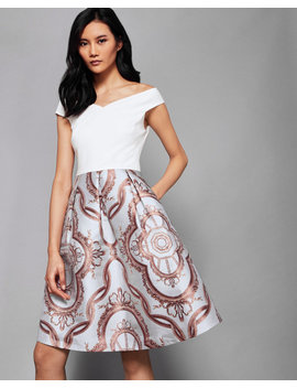 Versailles Jacquard Skirt Dress by Ted Baker