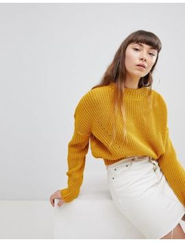 Daisy Street High Neck Sweater With Cable Knit by Daisy Street