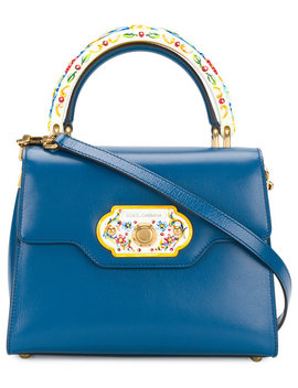 Welcome Sicily Patterned Tote by Dolce & Gabbana