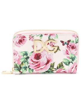 Floral Print Wallet by Dolce & Gabbana