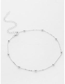 Beaded Detail Chain Choker by Sheinside