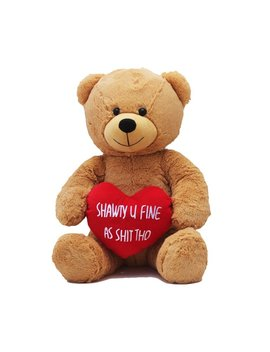 Hollabears Extra Large Shawty U Fine As Shit Tho Teddy Bear   Funny And Cute Valentine's Day Gift For Girlfriend, Boyfriend Or Best Friends by Hollabears