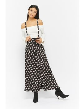 Floral Button Front Overall Dress by F21 Contemporary