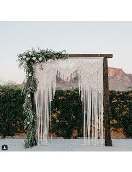 """Macrame Wall Hanging, Curtain Wedding Arch W 75"""" & L 85 """" Dkw#114 by Www.Knittworld.Com"""