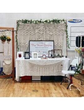 """Macrame Wall Hanging, Curtain Wedding Arch W 75"""" & L 80 """" Dkw#025 by Www.Knittworld.Com"""
