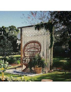 """Macrame Wall Hanging, Curtain Wedding Arch W 75"""" & L 85 """" Dkw#039 by Www.Knittworld.Com"""