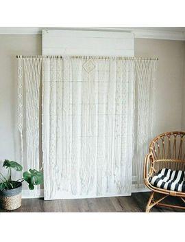 """Macrame Wall Hanging, Curtain Wedding Arch W 80"""" & L 75 """" Dkw#031 by Www.Knittworld.Com"""
