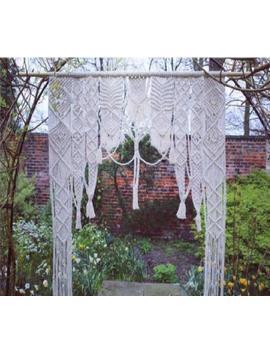 "Macrame Wall Hanging, Curtain Wedding Arch W 70 "" & L 80 "" A Must Decor by Www.Knittworld.Com"