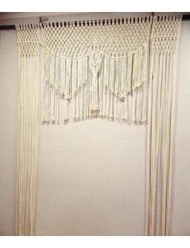 """Macrame Wall Hanging, Curtain Wedding Arch W 70"""" & L 80"""" Accept My Decor by Www.Knittworld.Com"""