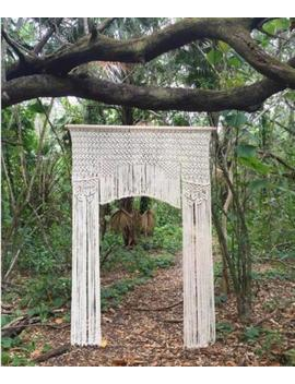 "Macrame Wall Hanging, Curtain Wedding Arch W 70"" & L 80"" Accept Our Offer Decor by Www.Knittworld.Com"