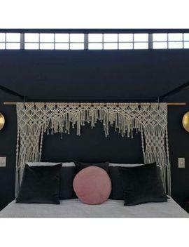 """Macrame Wall Hanging, Curtain Wedding Arch W 80"""" & L 60 """" Dkw#038 by Www.Knittworld.Com"""