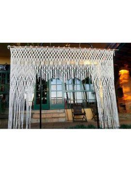 """Macrame Wall Hanging, Curtain Wedding Arch W 85"""" & L 72 """" Dkw#037 by Www.Knittworld.Com"""