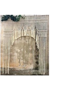 """Macrame Wall Hanging, Curtain Wedding Arch W 75"""" & L 85 """" Dkw#052 by Www.Knittworld.Com"""