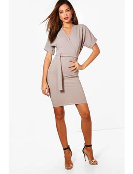 Tall Georgia Belted Wrap Dress by Boohoo
