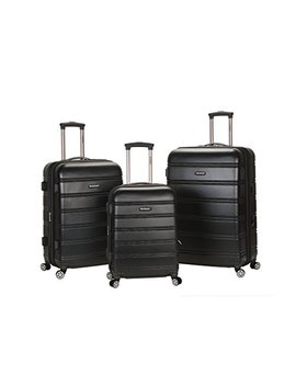 Rockland Luggage Melbourne 3 Piece  Set, Black, Medium by Rockland