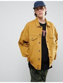 Asos Oversized  Denim Jacket In Vintage Yellow by Asos