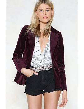 Follow Suit Corduroy Blazer by Nasty Gal